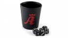 Branded Leather Dice Cup with Dices